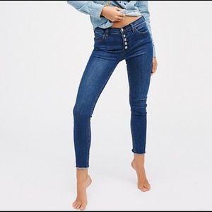 FREE PEOPLE Reagan Raw Hem Skinny Denim Jeans 26